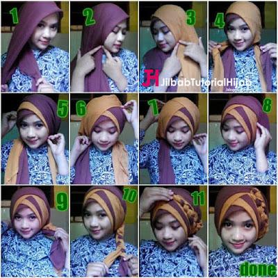 Tutorial Hijab Model Layer Modern untuk Kebaya Wisuda