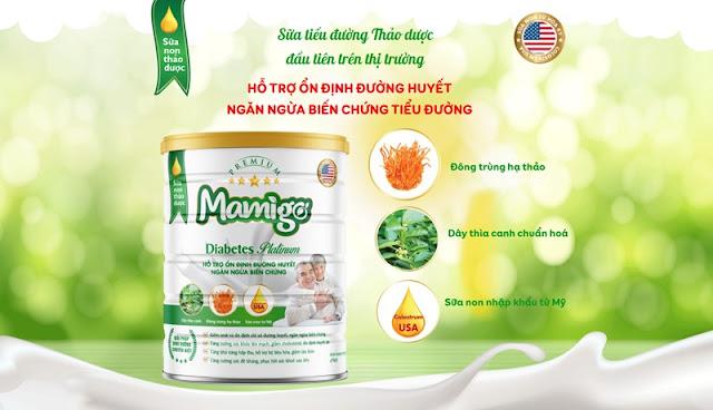 Sữa tiểu đường thảo dược Mamigo Diabetes Platinum có tốt không