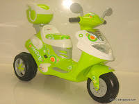 1 Doestoys LW626 Mio Battery Toy Motorcycle in Green