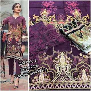 Iris vol 1 Lawn Embroidered Pakistani Suits wholesaler