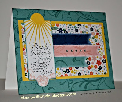 Stampin Up Trust God, card by Trude, stampwithtrude.blogspot.com