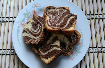 Kek Marble Coklat