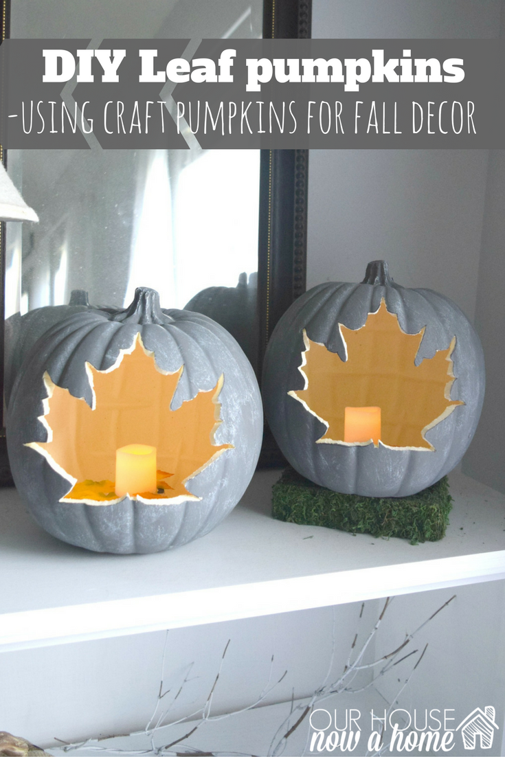 Foam cut out pumpkin candles