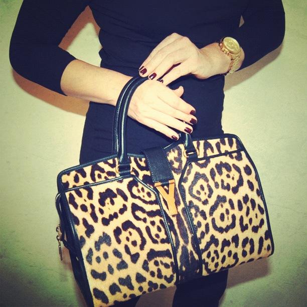Yves Saint Laurent leopard handbag Michael Kors