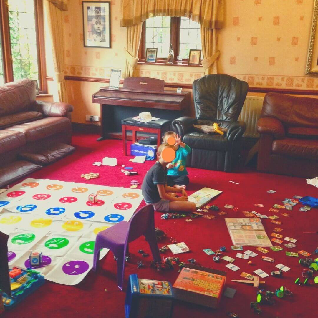 How To Play With Your Kids When You Don't Like To Play | Mess on the floor, and then they ask you to play... *shudder*