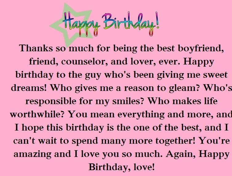 Romantic Birthday Paragraphs For Your Boyfriend Happy Birthday Wishes