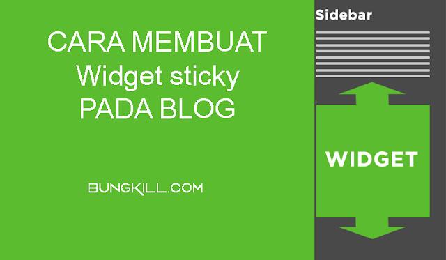 Cara Membuat Widget sticky Yang Mengikuti Scroll Pada Blog
