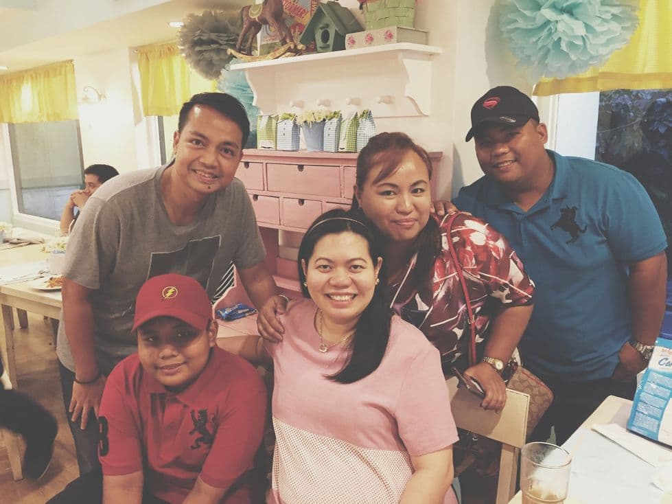 Photo with my cousin and his family during our Stacy's BGC baby shower