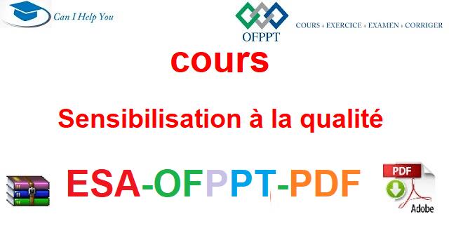 Sensibilisation à la qualité Électromécanique des Systèmes Automatisées-ESA-OFPPT-PDF
