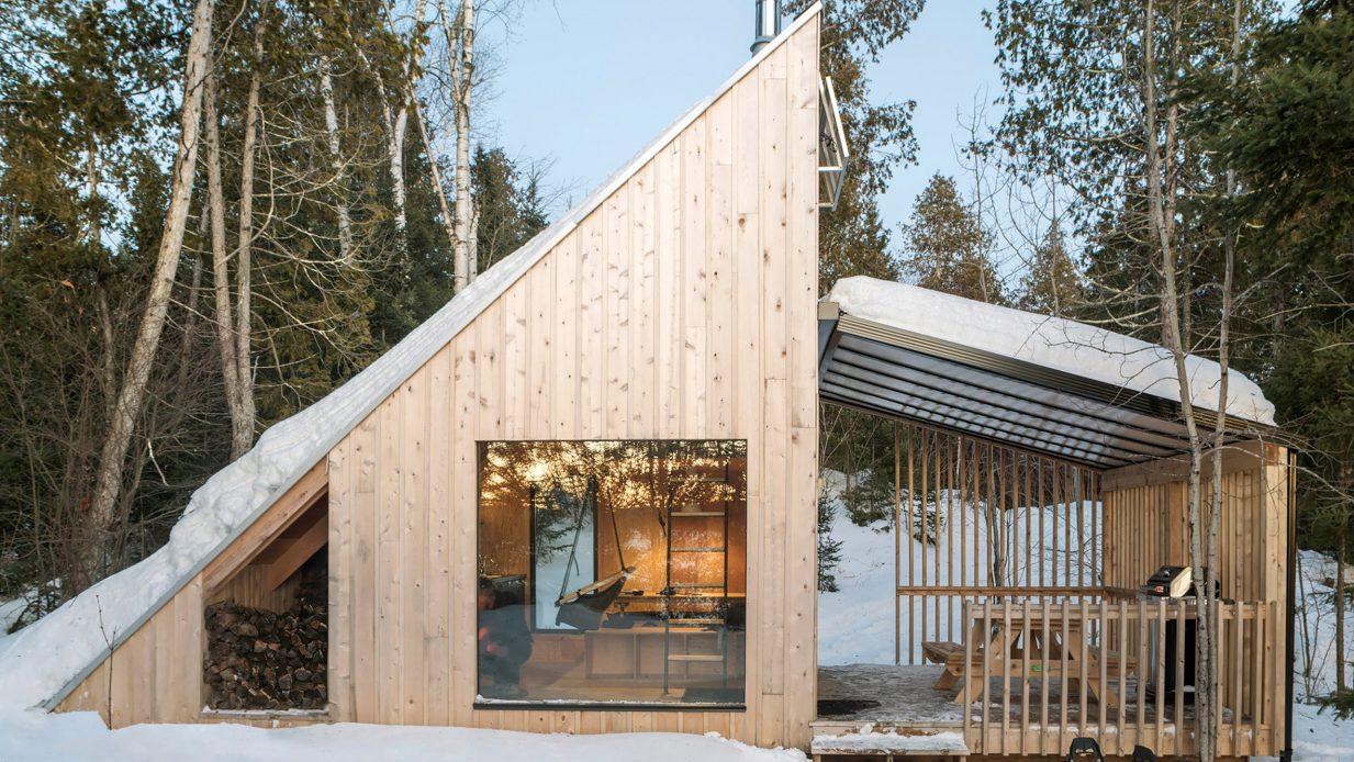 Una cabin affacciata sul lago