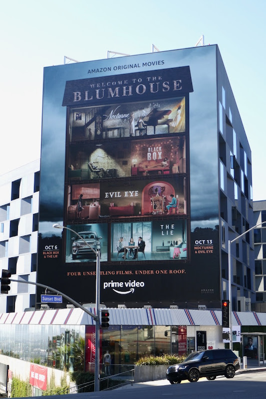 Giant Welcome to the Blumhouse billboard