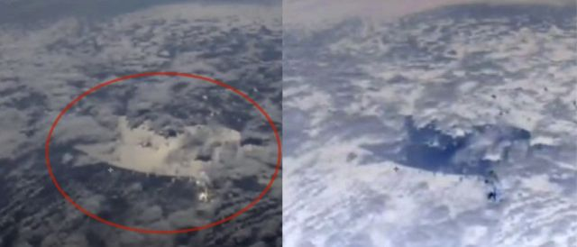 ISS Live Cam Captured Something Mysterious In The Sky  Iss-live-cam-mysterious-structure-sky-clouds