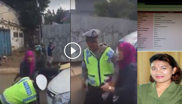 Video Heboh Seorang Ibu-ibu Yang Berdinas di Mahkamah Agung RI ,Hajar Oknum Polisi Di Tengah Jalan.