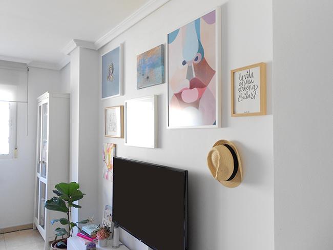 Composición láminas en mi salón