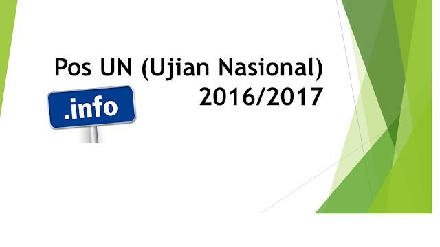 pos un (ujian nasional) 2016/2017