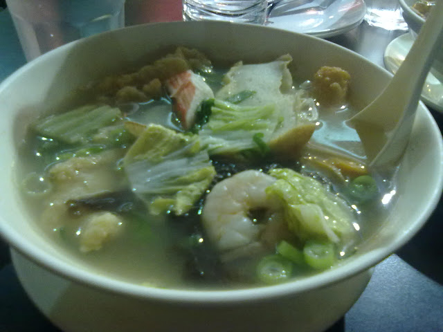 seafood noodle soup from Mey Lin Pot and & Noodle House
