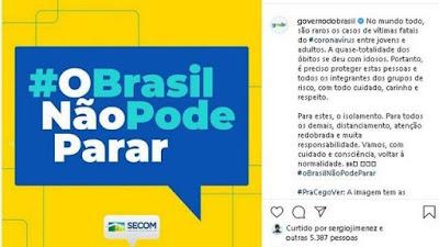 Justiça federal proíbe campanha O Brasil Não Pode Parar