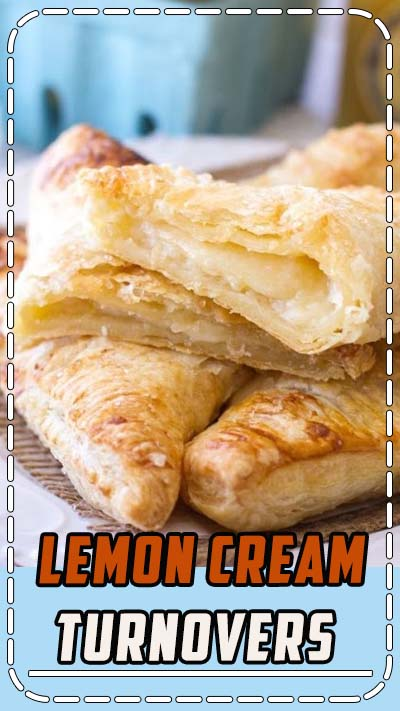 Easy lemon cream turnovers are so easy! Lemon curd and cream cheese are put inside puff pastry and baked up to lemon cheesecake turnovers recipe perfection! #lemon #cheesecake #turnovers #dessert #recipe