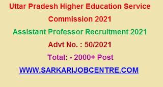 UP Assistant Professor Recruitment Online Application 2021