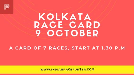 Kolkata Race Card 9 October