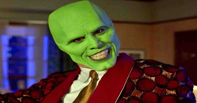 What skin color was the famous character The Mask?