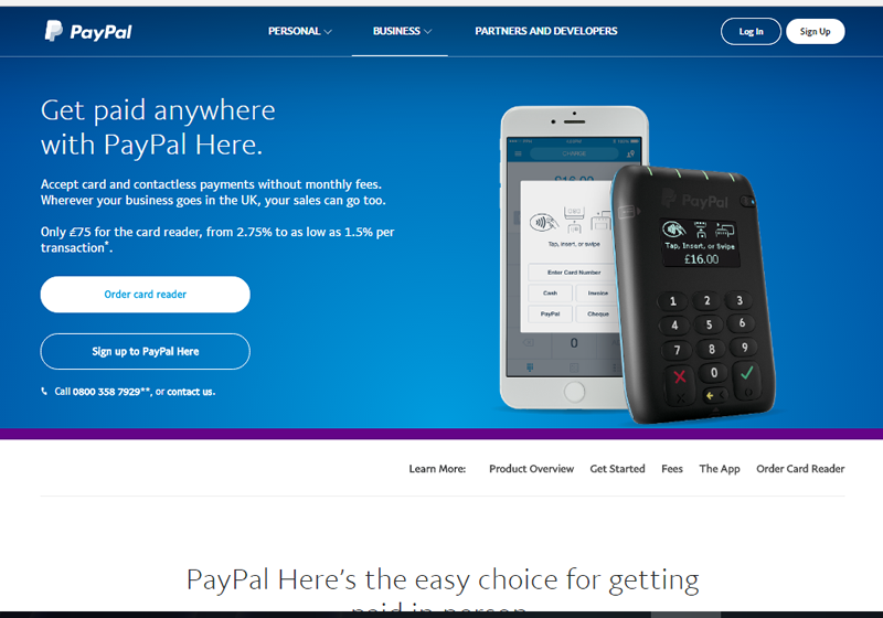 PayPal Here has the familiarity of a trusted name