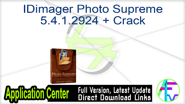 IDimager Photo Supreme 5.4.1.2924 + Crack