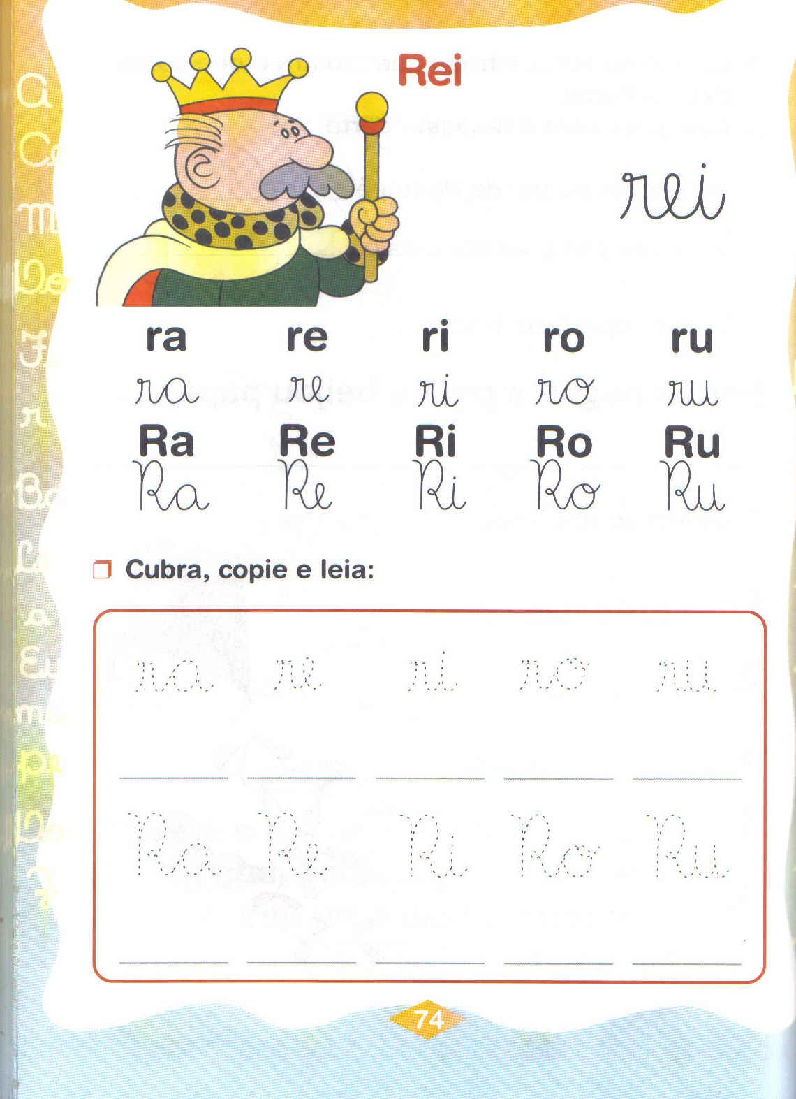 sílabas ensino fundamental ra re ri ro ru