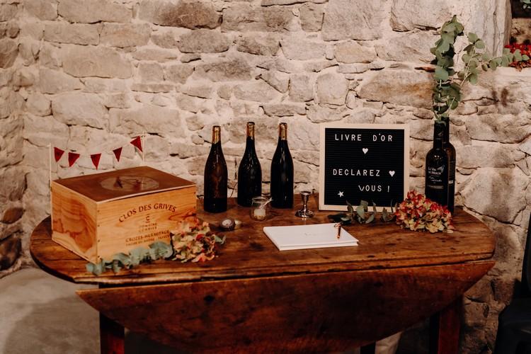 Fleuriste mariage Lyon, Raphaël Keïta, Décoration mariage, table livre d'or