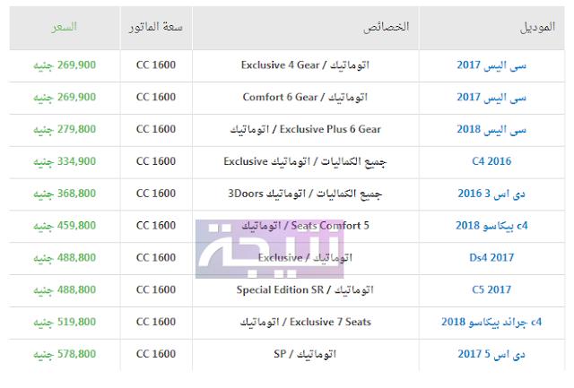 أسعار سيارات سيتروين 2018 في مصر
