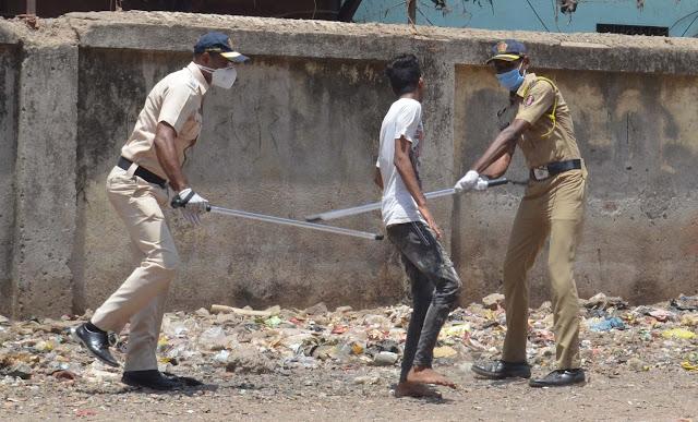 Police lathi-charge