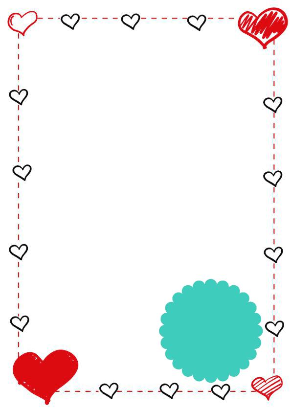 caratulas para cuadernos para niñas de primaria de corazones