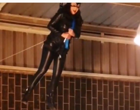 "Rania Youssef Cat woman in the scenes of ""The Game 2"" without a duplicate .. Videos and photos"