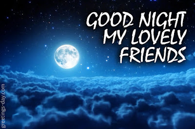 good night friends image