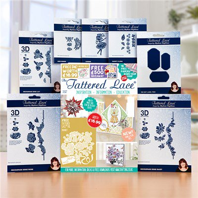 Tattered lace 12 month magazine subscription from £69.99 with £100 worth of free dies!