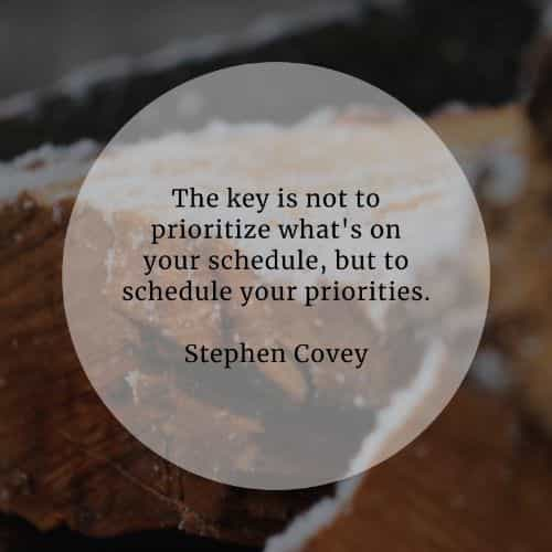 Priority quotes that will help you sort things out