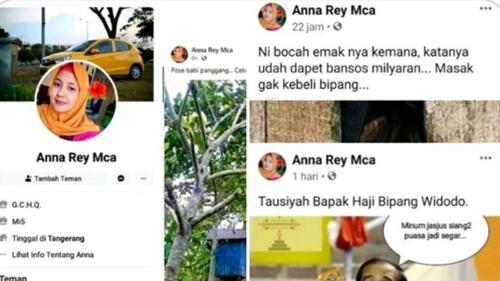 Posting Foto Hina Jokowi, Netizen: Tausiyah Bapak Haji Bipang Widodo
