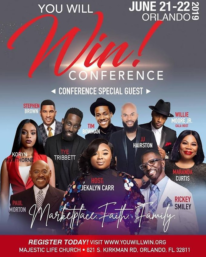 You Will Win Conference - June 21-22 | 2019 ORLANDO