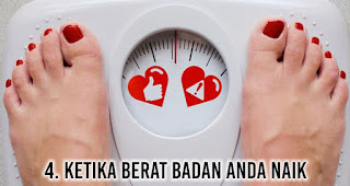 Ketika berat badan Anda naik adalah salah satu Rahasia yang disembunyikan pria dari anda