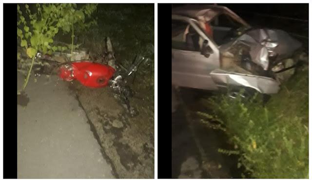 Em Monteirópolis, acidente entre moto e carro deixa um homem e uma criança morta