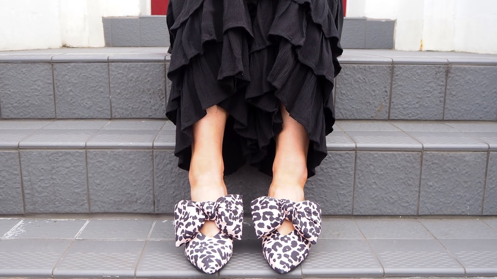 ASOS Leopard Print Mules with Bow
