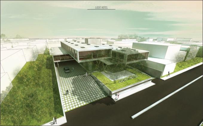 desain licht hotel ruang hijau maksimal