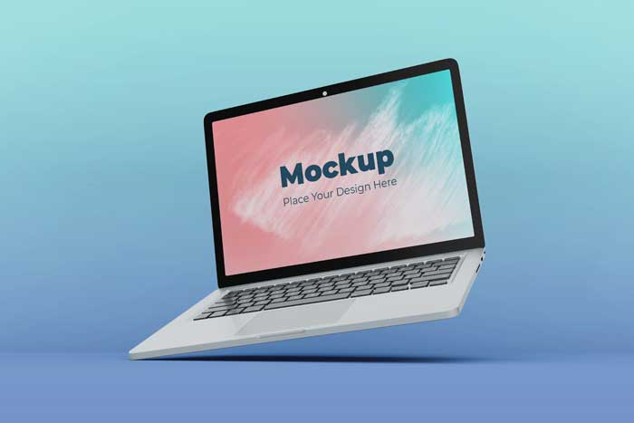 Editable Floating Display Mockup