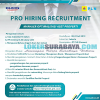 Open Recruitment di PT. PLN (Persero) Surabaya Terbaru Juli 2019