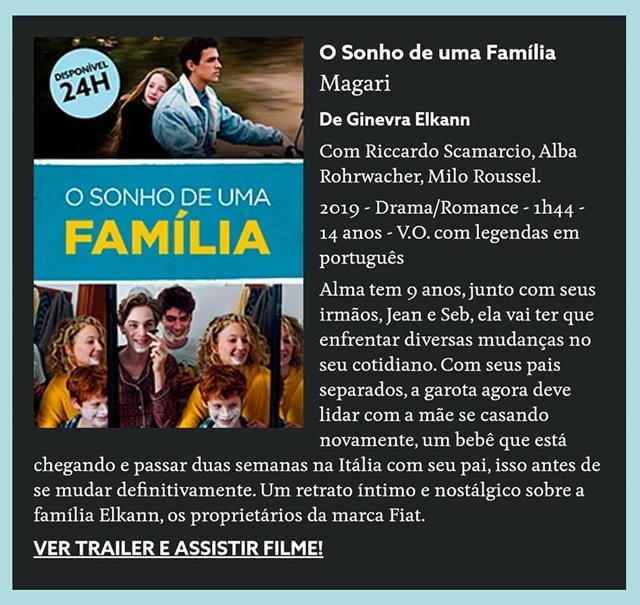 Filme Italiano O Sonho De Uma Família