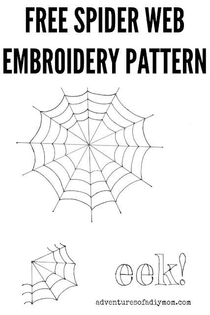 free spider web embroidery pattern