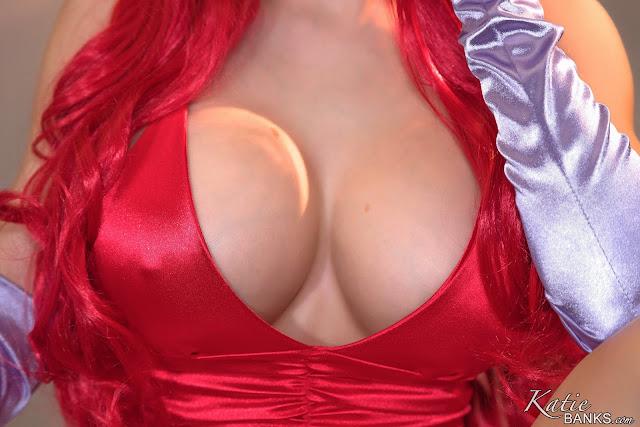 Katie banks jessica cosplay big tits closeup pic