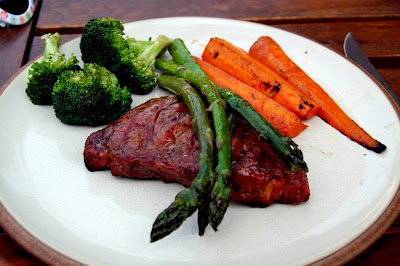 Steak and Grilled Vegetables - Photo by David Yussen