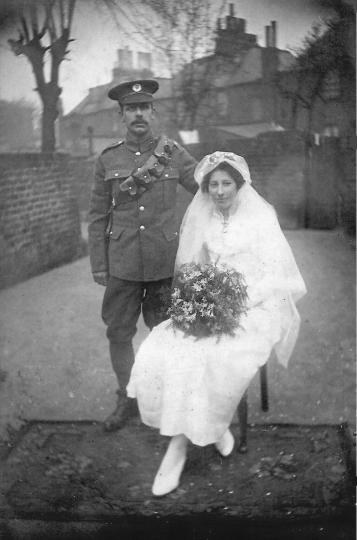 Wedding couple from England, 1917