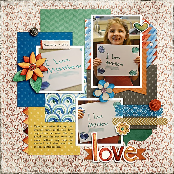 Love Scrapbook Page